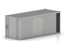 Royalty Free Clipart Image of a 3D Cargo Container