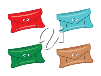 Royalty Free Clipart Image of Four Purses