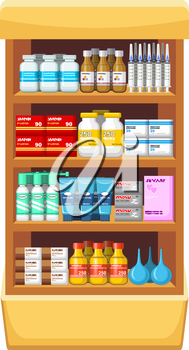Pharmacy, medicine.Vector illustration