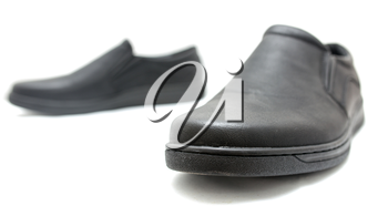 Black shoes on a white background