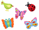 Bird, ladybug and butterflies - kids toys