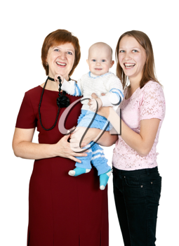 Royalty Free Photo of a Smiling Family