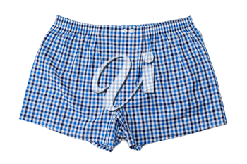 A pair of boxer shorts (underwear) isolated on white background.