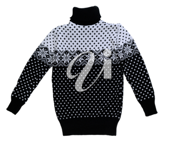 Men's knitted sweater. Isolate on white background.