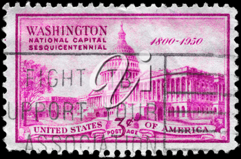 Royalty Free Photo of 1950 US Stamp Shows United States Capitol, 150th Anniversary of its Establishment