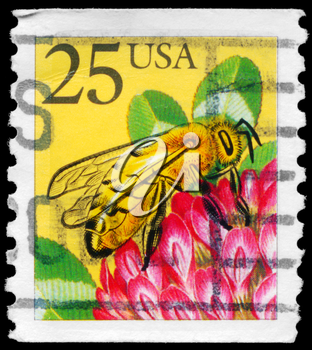 Royalty Free Photo of 1988 US Stamp Shows a Honeybee