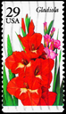 Royalty Free Photo of 1994 US Stamp Shows the Gladiola, Garden Flowers