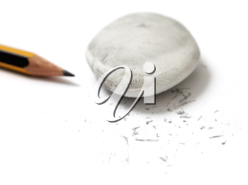 Royalty Free Photo of a Pencil and Eraser