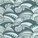 Royalty Free Clipart Image of a Background of a Swirl Pattern