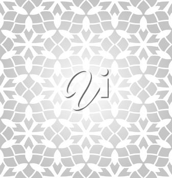 Vector Seamless Pattern with winter snowflakes