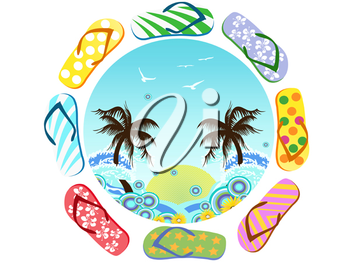 Royalty Free Clipart Image of a Summer Symbol