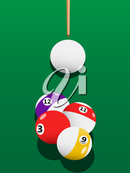 Royalty Free Clipart Image of Billiard Balls