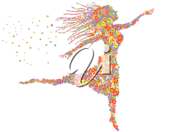 Royalty Free Clipart Image of a Dancing Woman