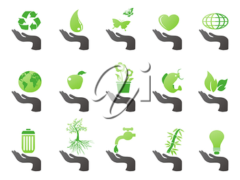 Royalty Free Clipart Image of Eco Icons
