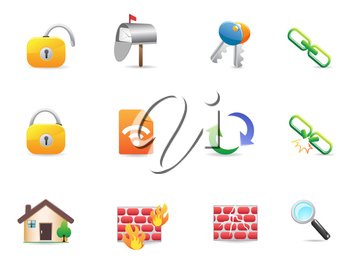 Royalty Free Clipart Image of Internet and Web Icons