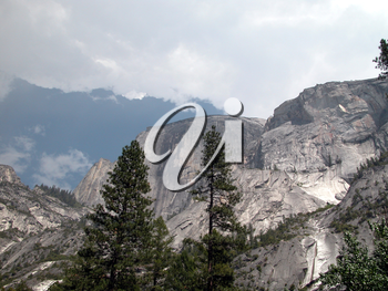 Royalty Free Photo of the Half Dome in Yosemite National Park