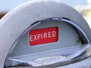 Royalty Free Photo of an Expired Parking Meter