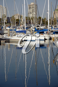 Royalty Free Photo of Boats in a Marina