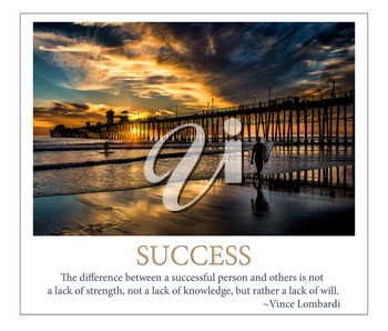 Royalty Free Photo of a Success Poster of a Surfer
