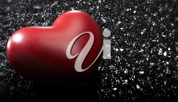 Royalty Free Photo of a Heart on a Black and White Background