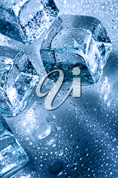 Royalty Free Photo of Ice and Water Drops