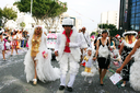 Royalty Free Photo of People Wearing Costumes in a Parade
