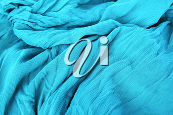 Royalty Free Photo of Blue Fabric