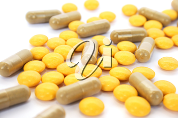 Royalty Free Photo of a Bunch of Pills