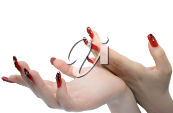Royalty Free Photo of a Woman's Manicure