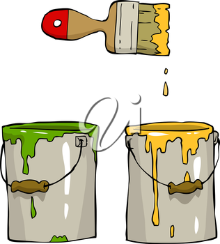 Royalty Free Clipart Image of Paint