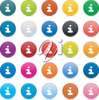 Royalty Free Clipart Image of a Bunch of Info Icons