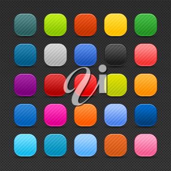 Royalty Free Clipart Image of a Bunch of Colourful Squares