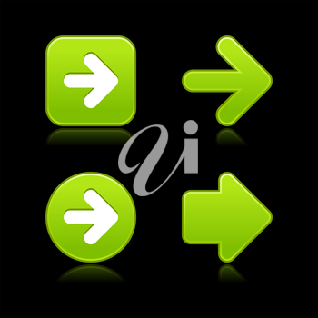 Royalty Free Clipart Image of Green Arrows