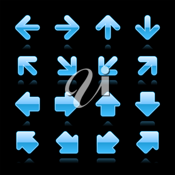 Royalty Free Clipart Image of Blue Arrows