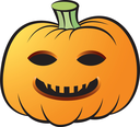 Royalty Free Clipart Image of a Jack-o-Lantern