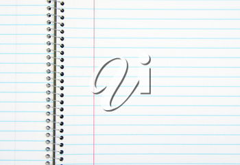 Blank notebook for background