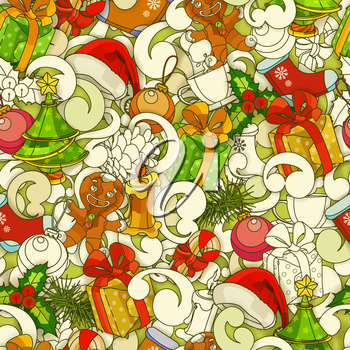 Christmas seamless, vector pattern