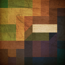 Retro colorful rectangles background