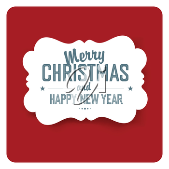 Merry Christmas Card Simple  Design. Vector