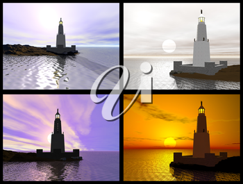 Lighthouse of Alexandria. 3D reconstructions