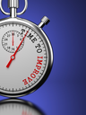 Time To Improve Concept. Stopwatch with