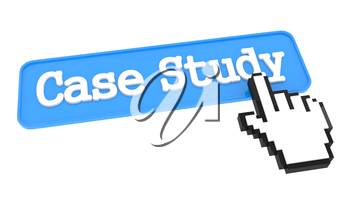 Case Study - Blue Button with Hand Cursor.
