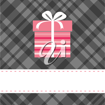 Greeting card with present box