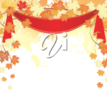 Vector illustration of Autumn leaves background
