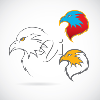Vector illustration of Eagles set