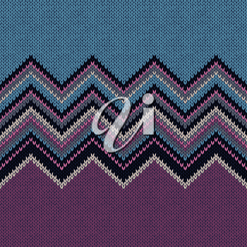 Fashion Color Swatch. Style Horizontally Seamless Knitted Pattern