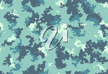Seamless classic camouflage pattern. Camo fishing hunting vector background. Masking white grey blue color military texture wallpaper. Army design for fabric paper vinyl print