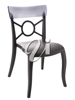 contemporary plastic chair isolated