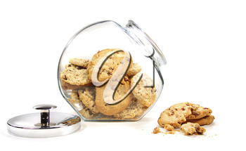 Royalty Free Photo of Cookies in a Jar