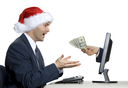 internet e-commerce at x-mas time in office